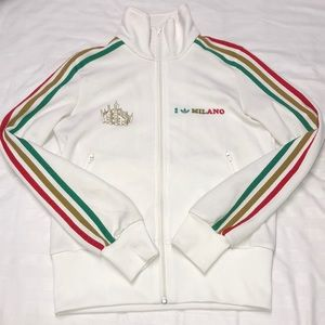 White Milano Adidas Zip Up Jacket
